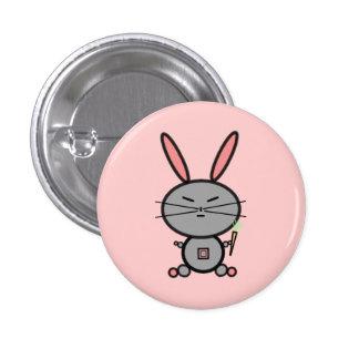 Bunny Rabbit 1 Inch Round Button