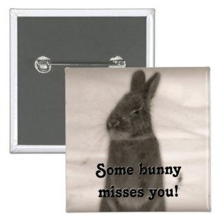 Bunny Rabbit 2 Inch Square Button