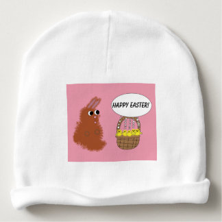 Bunny Rabbit and Baby Chicks Happy Easter Baby Beanie