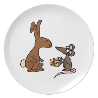 Bunny Rabbit and Mouse Plates