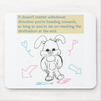 Bunny Rabbit and Quote Mouse Pad