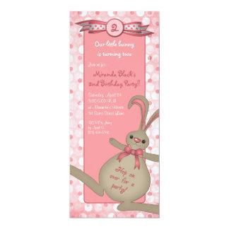 Bunny Rabbit Birthday Party Invitation
