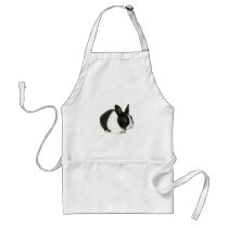 Bunny Rabbit Black & White Adult Apron