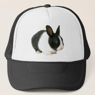 Bunny Rabbit Black & White Trucker Hat