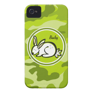 Bunny Rabbit bright green camo camouflage Case-Mate iPhone 4 Case