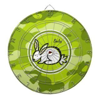 Bunny Rabbit; bright green camo, camouflage Dart Board