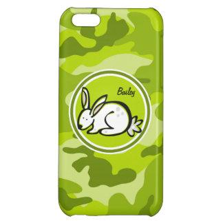 Bunny Rabbit bright green camo camouflage iPhone 5C Cases