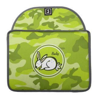 Bunny Rabbit; bright green camo, camouflage Sleeve For MacBooks