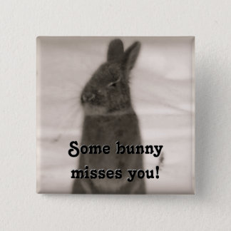Bunny Rabbit Button