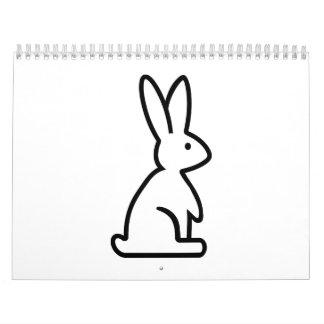 Bunny rabbit calendar