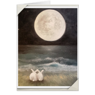 Bunny Rabbit Card - I Love You to the Moon...