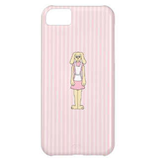 Bunny Rabbit Cartoon, wearing Pink and White. Cover For iPhone 5C