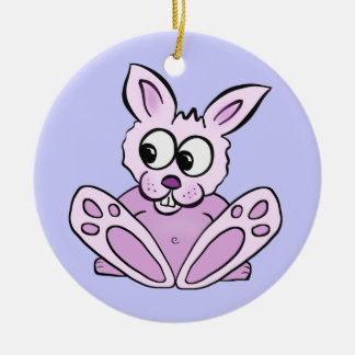 Bunny Rabbit Ceramic Ornament