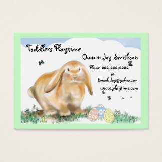 Bunny Rabbit-Children's store Business Card