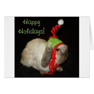 Bunny Rabbit Christmas Blank Note Greeting Card