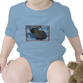 Bunny Rabbit Chritmas with Snowman Holiday Boxes Shirt