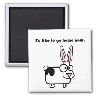 Bunny Rabbit Cow Wants to Go Home Magnet
