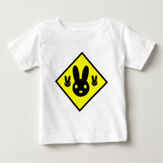 Bunny Rabbit Crossing Sign Baby T-Shirt