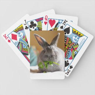Bunny Rabbit Eating His Veggies Bicycle Playing Cards