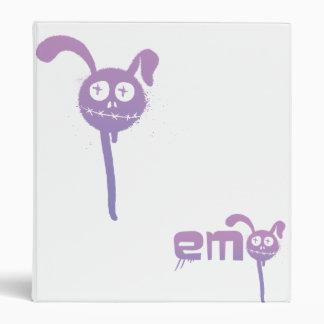 Bunny Rabbit- Emo 3 Ring Binder