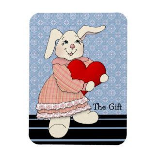 Bunny Rabbit Gives the Gift of Love Magnet