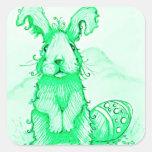 Bunny Rabbit  Green Sticker