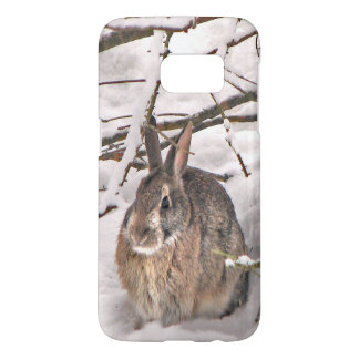 Bunny Rabbit in Snow Samsung Galaxy S7 Case