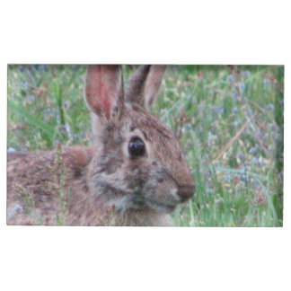 Bunny Rabbit In Wildflowers Place Card Stand