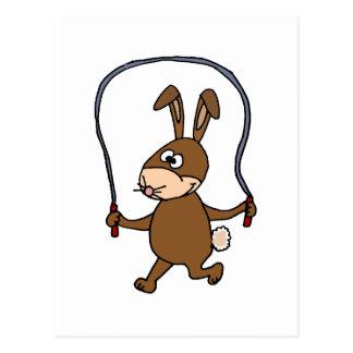 Bunny Rabbit Jumping Rope Postcard