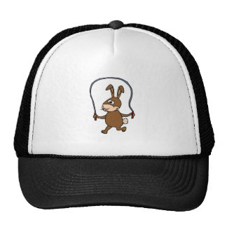 Bunny Rabbit Jumping Rope Trucker Hat