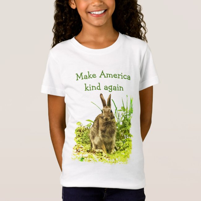 Bunny Rabbit Make America Kind Again Kids Shirt