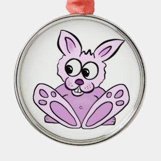 Bunny Rabbit Metal Ornament