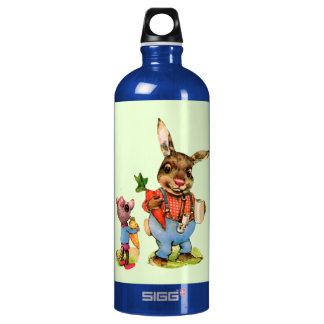 Bunny Rabbit Mouse Vintage Vegetables Antique SIGG Traveler 1.0L Water Bottle