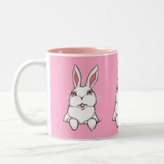 Bunny Rabbit Mug Coffee Cup Pink Bunny Cup