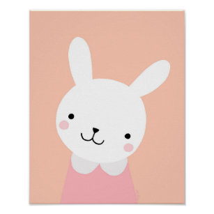 Bunny Rabbit Nursery Poster Art