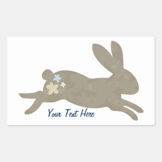 Bunny Rabbit (personalized) Rectangular Sticker