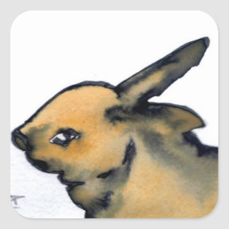 Bunny Rabbit Products - CricketDiane Art Square Sticker