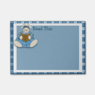 Bunny Rabbit Says to Read This Post-it Notes