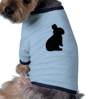 Bunny Rabbit Silhouette Pet T-shirt