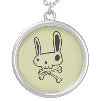 """Bunny Rabbit Skull"" Pendant Necklace"