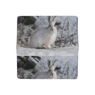 bunny rabbit snow print pattern nature checkbook cover