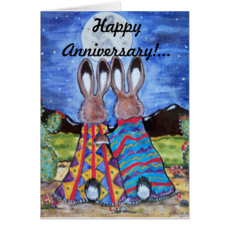 "Bunny Rabbit/""Snuggle Bunnies"" Anniversary Card"
