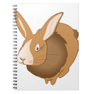 Bunny Rabbit Spiral Note Book