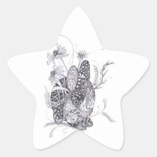 Bunny Rabbit Star Sticker