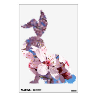 Bunny Rabbit wall decals Pink Spring Blossoms