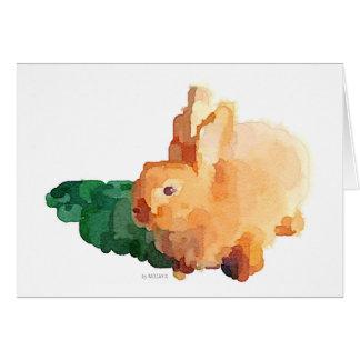 Bunny Rabbit Watercolor Greeting Card
