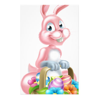 Bunny Rabbit with Easter Basket Stationery