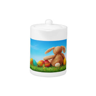 Bunny Rabbit with Five Eggs Teapot