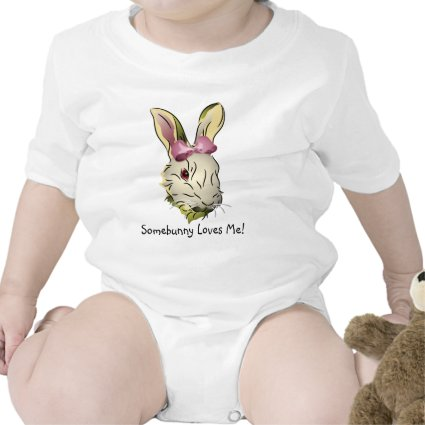 Bunny Rabbit with Pink Bow Bodysuits