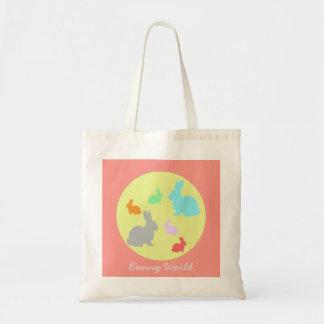Bunny / Rabbit World Funky Tote Bag